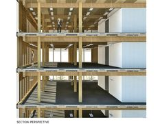multi story timber frame const detail Gallery of Wood Innovation Design Centre / Michael Green Architecture - 10 Architecture Design, Wooden Architecture, Timber Buildings, Education Architecture, Architecture Office, Sustainable Architecture, Architecture Diagrams, Architecture Graphics, Timber Walls