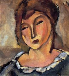 Head of a Young Woman Artwork - Jules Pascin