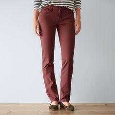 Women's SONOMA Goods for Life™ Sateen Slim Straight-Leg Pants, Size: 14 Avg/Reg, Red