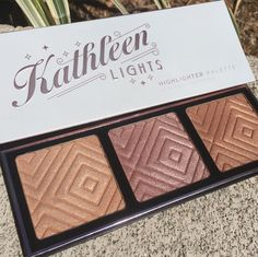 Makeup Geek x Kathleen Lights highlight palette Makeup Goals, Makeup Kit, Makeup Geek, Love Makeup, Skin Makeup, Makeup Inspo, Makeup Addict, Makeup Inspiration, Beauty Makeup