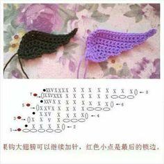 Crochet wing motif