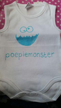 Rompertje versieren voor een baby shower