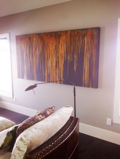 Modern Masters Metal Effects Rust Patina Finish on Canvas Art | Project by Decorative Artist Leslie Redshaw