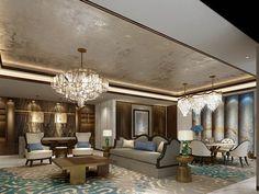 DB Kim House Ceiling Design, Classic Ceiling, Design Studios, Private Room, Classic Furniture, 3d Rendering, Banquet, Restaurants, Kitchens