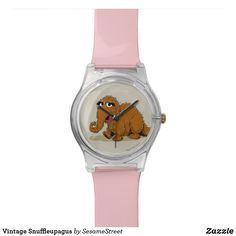 Shop Vintage Snuffleupagus Wristwatch created by SesameStreet. Presents For Kids, Fun Gifts, Watch Faces, Vintage Shops, Fashion Accessories, Quartz, Band, Design, Style