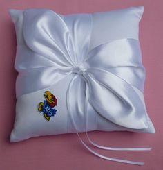 Wedding Ring Bearer Pillow University Of Kansas Jayhawks Themed