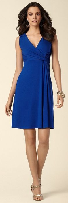 #Soma Side Twist Dress in Sapphire #SomaIntimates