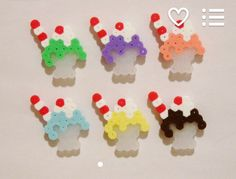 Milkshakes Magnet Set with Straws Kawaii Perler Beads by RainbowMoonShop on… Perler Bead Templates, Diy Perler Beads, Perler Bead Art, Melty Bead Patterns, Pearler Bead Patterns, Beading Patterns, Hama Beads Design, Peler Beads, Iron Beads