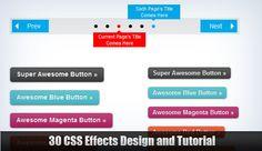 CSS EFFECTS DESIGN AND TUTORIAL Website Developer, Cool Buttons, Design