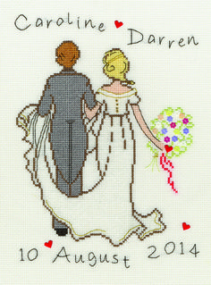 Great ideas for Valentine's Day including this beautiful cross-stitch design from Bothy Threads