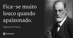 Fica-se muito louco quando apaixonado. — Sigmund Freud