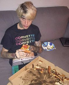 He ate the whole pizza that night