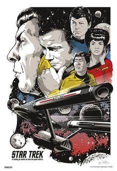 Art Print: Star Trek - To Boldly Go : 19x13in