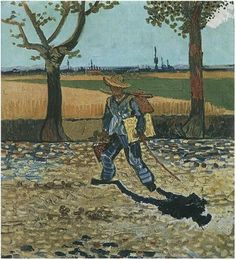 Selfportrait on the Road to Tarascon (The Painter on His Way to Work) - Vincent van Gogh- Style: Post-Impressionism Genre: self-portrait Technique: oil Material: canvas Dimensions: 48 x 44 cm Gallery: Destroyed Art Van, Van Gogh Art, Vincent Van Gogh, Desenhos Van Gogh, Van Gogh Pinturas, Van Gogh Paintings, Van Gogh Museum, Oil Painting Reproductions, Dutch Artists