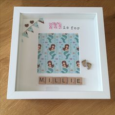 M is for Millie - personalised scrabble memory frame / handmade - £15.00 plus P&P