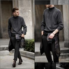 Stilysto  By Andrzej S. - H&M Sweater, Mavi Bomberjacke - The camouflage Trend in autumn
