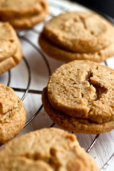 """NYT Cooking: Inspired by two recipes in Maida Heatter's """"Book of Great Cookies,"""" these crisp treats are the best peanut butter cookies I've ever tasted."""