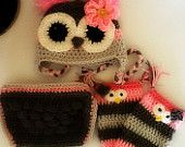 Owl Hat, Leg Warmers And Diaper Cover
