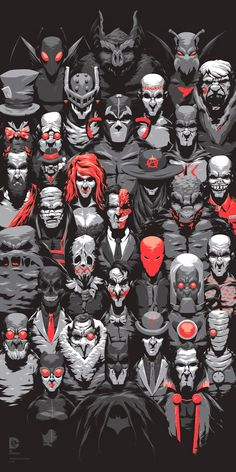 The Rogues Gallery: Firefly, Man-Bat, Killer Moth, Mad Hatter, Prometheus, Calendar Man, Solomon Grundy, Ventriloquist (with Scarface), Bane, Catman, Maxie Zeus, Poison Ivy, Anarky, No idea, Hush, Two-Face, Killer Croc, Clayface, Scarecrow, Red Hood, Mr Zsasz, Black Mask, Joker, Mr Freeze, Professor Hugo Strange, Penguin, Riddler, Deadshot, Catwoman, Rā's al Ghūl. And Batman