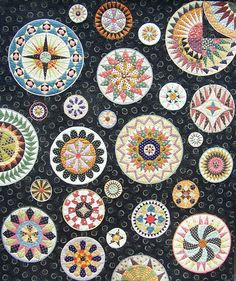 Lots of Dots by Chris Jurd shown on Quilt Inspiration (lots of tutorials/patterns)