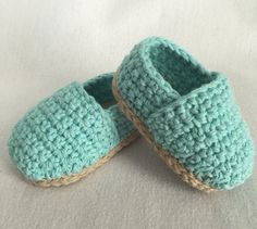 Crochet Baby Espadrilles // Crochet Baby Shoes // by CGKreations