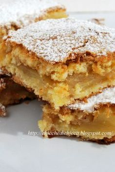 The goodies gem: Squares Rustici to Apples Italian Cake, Italian Desserts, Bakery Recipes, Cookie Recipes, Apple Recipes, Sweet Recipes, Torte Cake, Baking And Pastry, Sweet Cakes