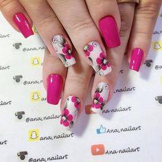 Simple Nail Art Trends 2018 - style you 7 Cute Nails, Pretty Nails, My Nails, Ombre Nail Designs, Nail Art Designs, Easy Nail Art, Simple Nails, Nail Arts, Spring Nails
