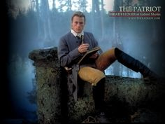"""Heath Ledger as Gabriel Martin in """"The Patriot"""" (2000) - A really nice picture highlighting how 18th century men's clothes were designed to move."""