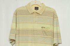 Greg Norman for Tasso Elba Play Dry Men's Short Sleeve Golf Polo Shirt Size L #GregNorman #ShirtsTops