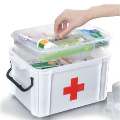 Baffect Large Family Home Medicine Chest Cabinet Health Care Plastic Drug First Aid Kit Box Storage Box Chest of Drawers First Aid Kit Storage, First Aid Kit Box, Camping First Aid Kit, Off The Grid, Toy Storage, Storage Boxes, Plastic Storage, Makeup Storage, Storage Ideas