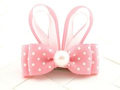 Pink Easter Bunny Hair Bow Sculptures / by OneofEverythingBows, $4.00