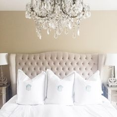 Loving this personalized (and not to mention chic) touch from @miamiamine paired with our Jameson bed.