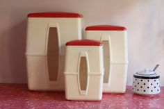 Vintage Retro White and Red 50s 40s Bakelite by LuluBelleVintage, $40.00