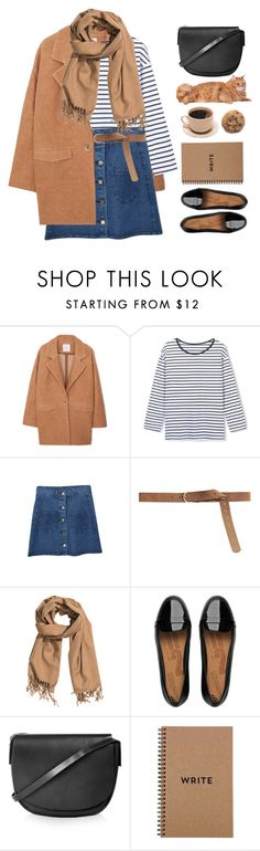 """Untitled #1357"" by timeak ❤ liked on Polyvore featuring MANGO, H&M, FitFlop, Topshop and bhalo"