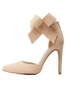 Qupid Ankle Bow Pointed Toe D'Orsay Pumps: Charlotte Russe