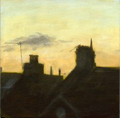 Spires & Wires by Greg Becker New Work, Wire, Sunset, Landscapes, British, Painting, Fire Places, Pintura, Paisajes