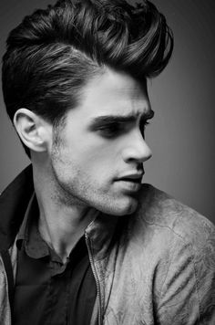 modern pompadour (<3 his hair, so thick and full of body!)