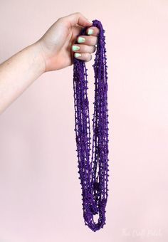 Beaded Crochet Wrap Necklace