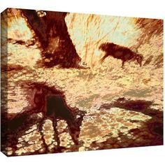 Dean Uhlinger Morning Deer Gallery-Wrapped Canvas, Size: 18 x 24, Brown