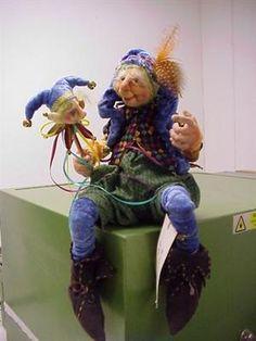 Cloth art doll - jester