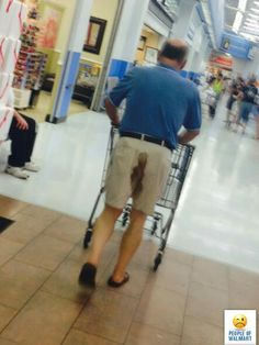 Preppy Poop at Walmart - Ironed Shirt, Shorts, Belt and a Shart Stain Fart Fail - Funny Pictures at Walmart