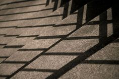 Stairs with Diagonal Shadows Stock Images