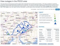PECO (Philadephia area) power outage map for cie storm of Feb 5, 2014