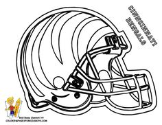 Football Helmet Chicago Bears Coloring Page For Kids | Kids Coloring ...