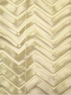 """Bliss Natural.  Heavy satin jacquard chevron pattern for unique draperies or light use upholstery. 3D construction. 17.5"""" up the roll repeat. 100% poly. 54"""" wide."""