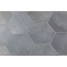 Langston Hexagon x Porcelain Field Tile in Gray Shower Floor Tile, Grey Tile Kitchen Floor, Tile Accent Wall Bathroom, Grey Kitchen Tiles, Laundry Room Flooring, Flooring, Grey Kitchen Floor, Grey Floor Tiles, Herringbone Tile Floors