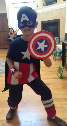 Diy boys captain America costume