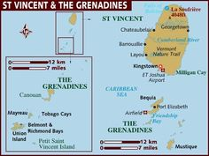 Map of St Vincent and the Grenadines Caribbean Bermuda Maps