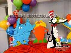 Dr Seuss Kids Party Decorations Cake table