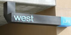 Secondary West Entry Sign